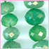 Emerald Facetted Roundel Green 3 to 8 mm