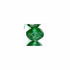 Green Aventurain Facetted Roundel