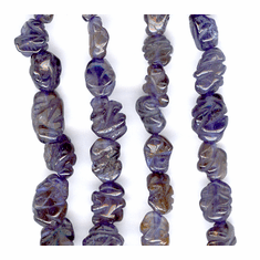 Iolite Carved Oval 5x7 mm to 6x8 mm