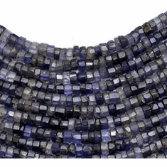 Iolite roundel 4 mm to 6 mm