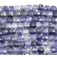 Iolite square 4x4 mm to 6x6 mm