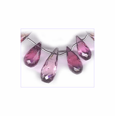 Pink Tourmaline facetted Briolette