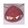 Ruby Faceted Drop 9x9 to 10x10 mm