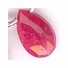 Ruby Faceted Side Drilled Drops