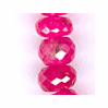 Ruby Facetted Roundel Pink 3 - 5 mm