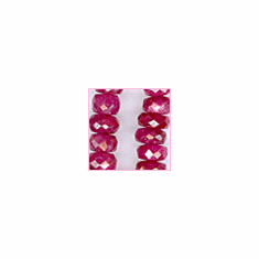 Ruby Facetted Roundell Dark Red 3 - 4.5 mm�