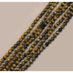 Tiger Eye Faceted Round 8 mm