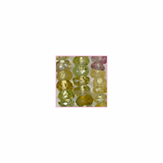 Tourmaline Facetted Mulit-Color<br>3 mm