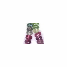 Tourmaline Facetted Roundel 4 to 5 mm