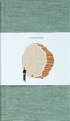 5 Year Diary: Green Cover