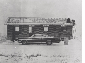 """Featured image is """"Working on the roof of Maison Lessard"""", Quebec, Canada, 1975 Credit: Minimum Cost Housing Group fonds, Canadian Centre for Architecture, Gift of Vikram Bhatt, ARCH284354"""
