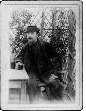 """Featured image, of Erik Satie in his days as """"The Velvet Gentleman"""" (c.1895/6_ is reproduced from <I>A Mammal's Notebook: The Writings of Erik Satie</I>."""