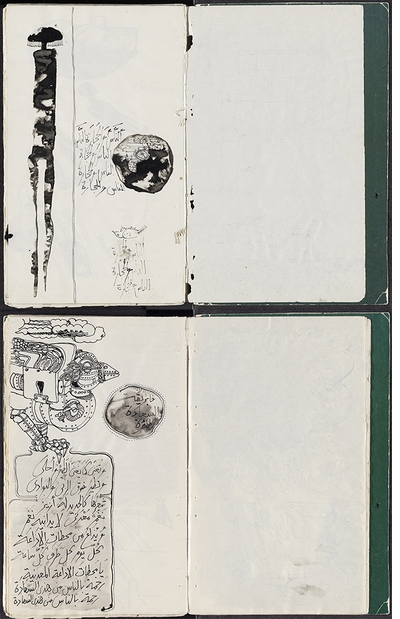 A remarkable facsimile of Ibrahim El-Salahi's 1976 prison notebook