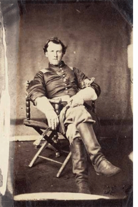 """""""Portrait of a Union soldier, Chattanooga, Tennessee"""" (c. 1863–64) by Isaac H. Bonsall (1833–1909) is reproduced from <I>A Strange and Fearful Interest</I>."""