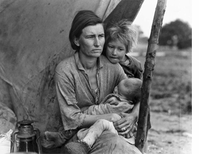 """Featured image, captioned """"Migrant agricultural workers, Nipomo"""" by Dorothea Lange (California, March, 1936), is reproduced from 'A Vision Shared: A Portrait of America 1935–1943.'"""