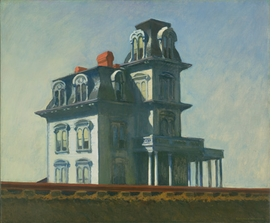 """Featured image, """"House by the Railroad"""" (1925), by Edward Hopper, is reproduced from <I>American Modern: Hopper to O'Keefe</I>."""