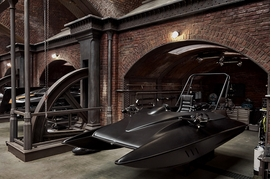 Featured image, of the Bond boat on the set for Q's London workshop, is reproduced from 'Anderson & Low: On the Set of James Bond's Spectre.'