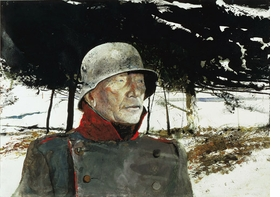 """Featured image: Andrew Wyeth, """"The German,"""" 1975. Watercolor © Andrew Wyeth."""