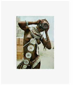 """""""Woman With A Camera (Postcard, Verso)"""" (2013) is reproduced from <I>Anne Collier.</I>"""