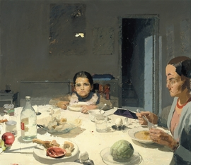"""Featured image, <i>La cena</i>, (The Dinner), painted by López García between 1971-1980, is reproduced from DAP's <a href=""""http://www.artbook.com/9781935202653.html"""">Antonio López García: Paintings and Sculpture</a>."""