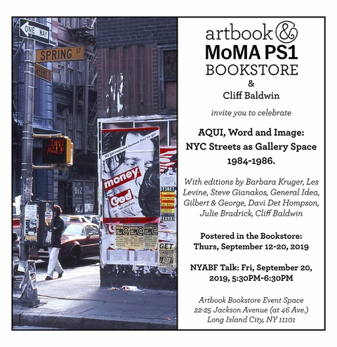 AQUI: Postered in Artbook Bookstore Event Space