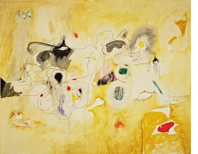 """""""Pastoral"""" (1947) is reproduced from 'Ardent Nature: Arshile Gorky Landscapes, 1943–47.'"""