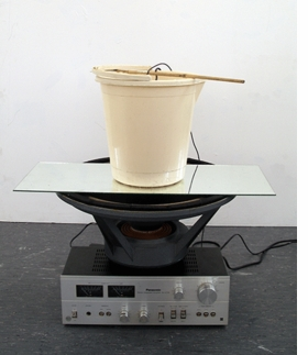 """""""Lo-Tech Proposed"""" (2006-14) by Haroon Mirza is reproduced from <b><a href=""""9788887029567.html"""" target='new'>Art or Sound</a></b>."""