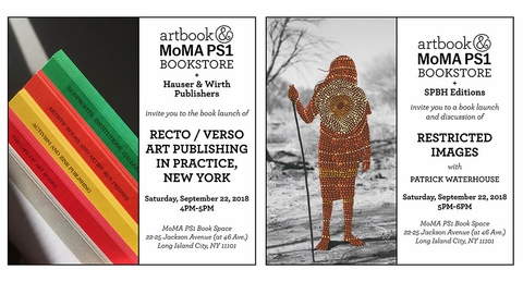 Artbook @ MoMA PS1 Bookstore signings and launch events at the NYABF 2018