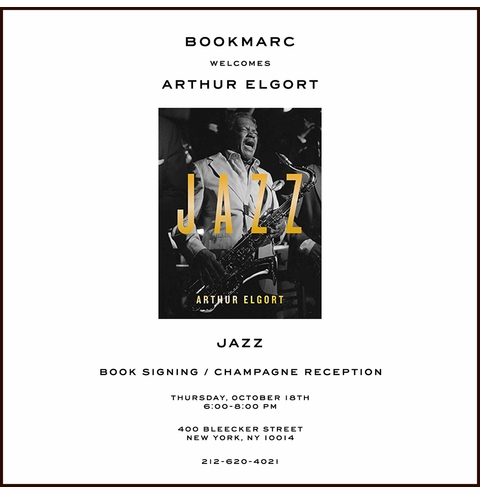 Arthur Elgort launches Jazz at Bookmarc