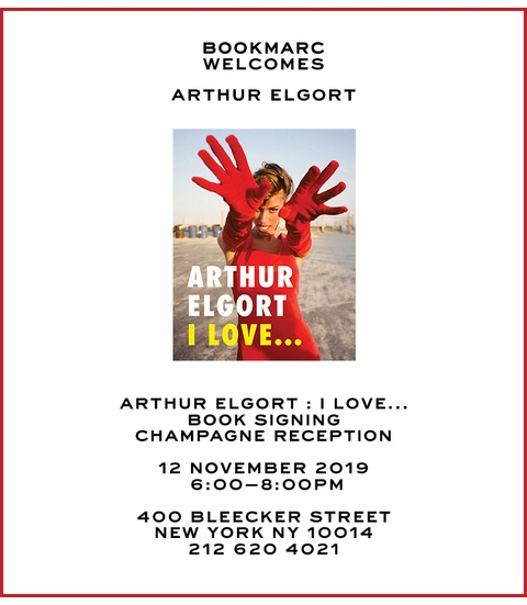 Arthur Elgort to launch 'I Love...' at Bookmarc NYC