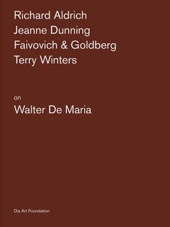 Artists on Walter De Maria