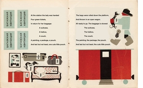Featured spread is reproduced from <I>Baggage</I>.
