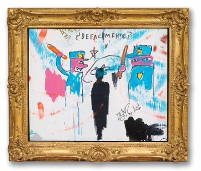 """Basquiat's """"Defacement""""—about the 1983 death of Michael Stewart in police custody—is all too relevant today"""
