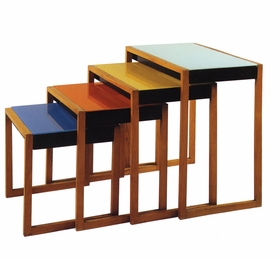 Josef Albers' Set Stacking Tables (1927) are reproduced from 'Bauhaus: 1919–1933.'