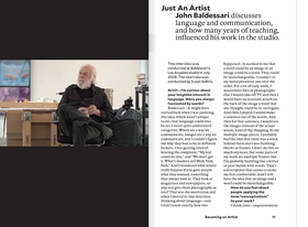 Featured spread is reproduced from 'Being an Artist.'