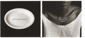 """""""C-Ration"""" (1991) by Lorna Simpson is reproduced from 'Beyond Mammy, Jezebel & Sapphire.'"""
