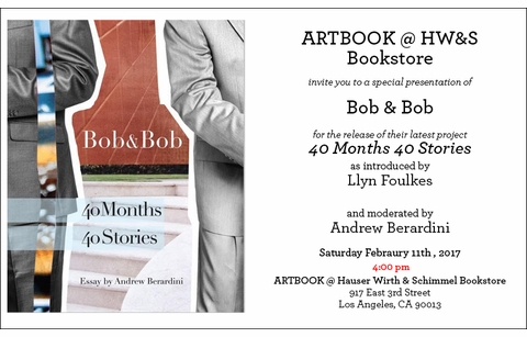 'Bob & Bob' Launch at ARTBOOK @ Hauser Wirth & Schimmel