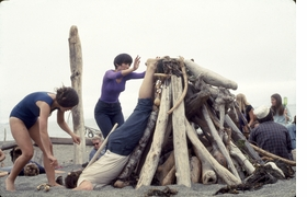 """Featured image is """"Driftwood City"""" by Anna and Lawrence Halprin, a workshop from their <I>Experiments in Environment</I> series, Sea Ranch, CA, 1966."""