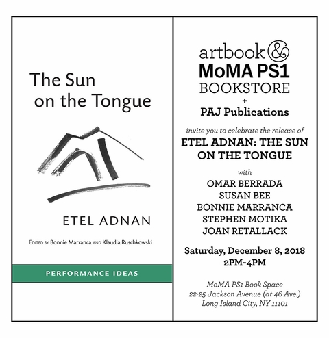 Bonnie Marranca, Omar Berrada, Susan Bee, Stephen Motika, and Joan Retallack celebrate 'Etel Adnan: The Sun on the Tongue' at MoMA PS1 Book Space