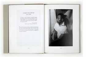 Above: Spread featuring James Baldwin from 'Carl Van Vechten: 'O, Write My Name': American Portraits, Harlem Heroes.'