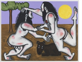 Featured image is reproduced from 'Carroll Dunham: Wrestlers.'
