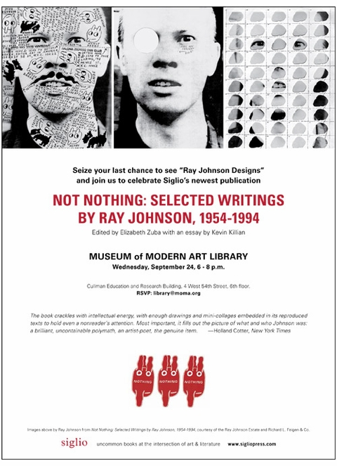 Celebrate 'Ray Johnson: Not Nothing' at the MoMA Library Wednesday Night