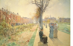 Featured image is reproduced from <i>Childe Hassam: At Dusk</i>.