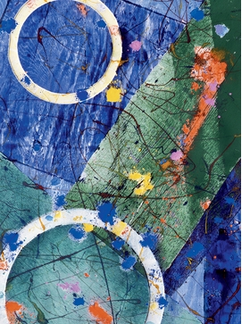 Featured image is reproduced from 'Cobalt Blue: Selected Writings of Sam Francis.'
