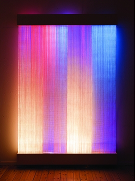 """Astrid Krogh's """"Ikat II"""" (2011) is reproduced from <i>Crafted: Objects in Flux</i>."""