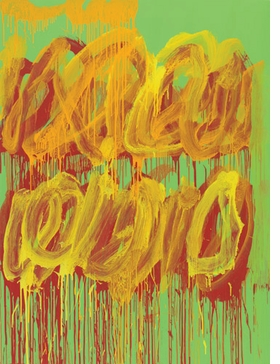 """""""Untitled (Camino Real)"""" (2011) is reproduced from <I>Cy Twombly: Paradise</I>."""