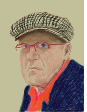 Featured image is reproduced from 'David Hockney: Drawing from Life.'