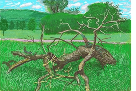 Featured image is reproduced from ''David Hockney: The Arrival of Spring in Normandy, 2020'.