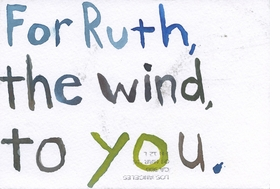 Featured image is reproduced from 'David Horvitz & Ruth Wolf-Rehfeldt: For Ruth, the Sky in Los Angeles / For Ruth, the Wind to You'.