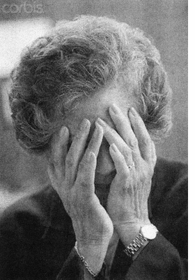 """Featured image, numbered 42-22560487 and titled """"Senior Hispanic Woman Covering Face With Hands,"""" is reproduced from <a href=""""9781927354018.html"""">David Horvitz: Sad, Depressed, People</a>."""